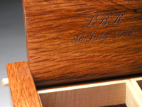 Personalised jewellery box engraving