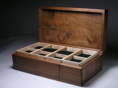 jewellery box in walnut Box Galleries Peter Lloyd