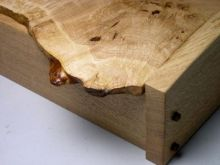 Natural edge oak