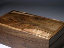 jewellery box in walnut