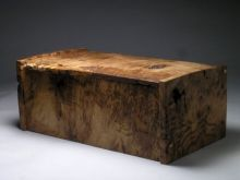 Large burr oak jewellery chest
