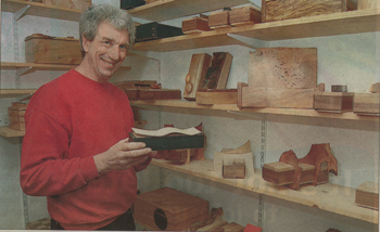 Peter Lloyd and his first wooden box